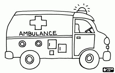 7 best Ambulance Coloring Pages images on Pinterest ...