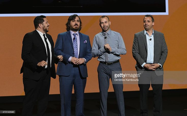 Sal Vulcano, Brian Quinn, James Murray and Joe Gatto speak on stage at the Turner Upfront 2015 at Madison Square Garden on May 13, 2015 in New York City. 25201_002_DK_1234.JPG