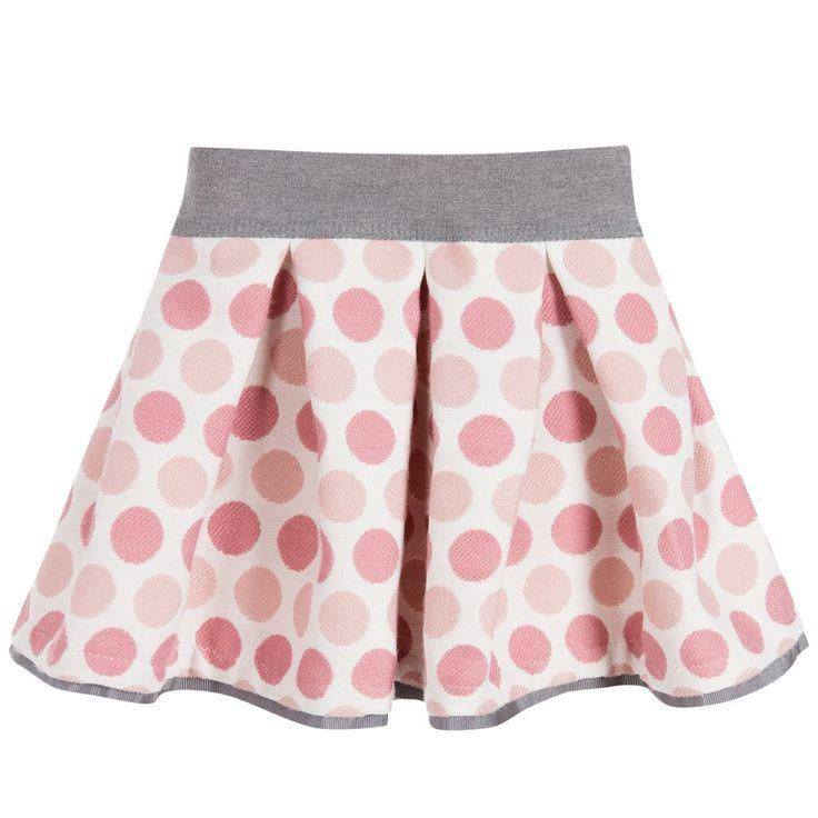 Monnalisa Bebé - Baby Girls Pink Spot Skirt | Childrensalon