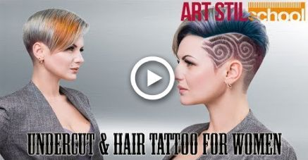 Undercut Hair Tattoo For Women #hair
