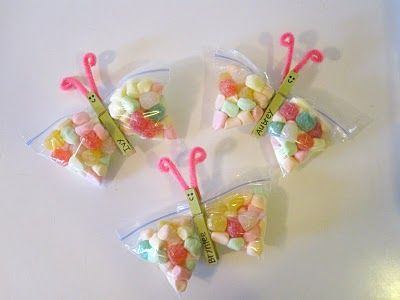 Butterfly Treat Bags. These would be cute for Easter treats, if only butterflies didn't scare me.