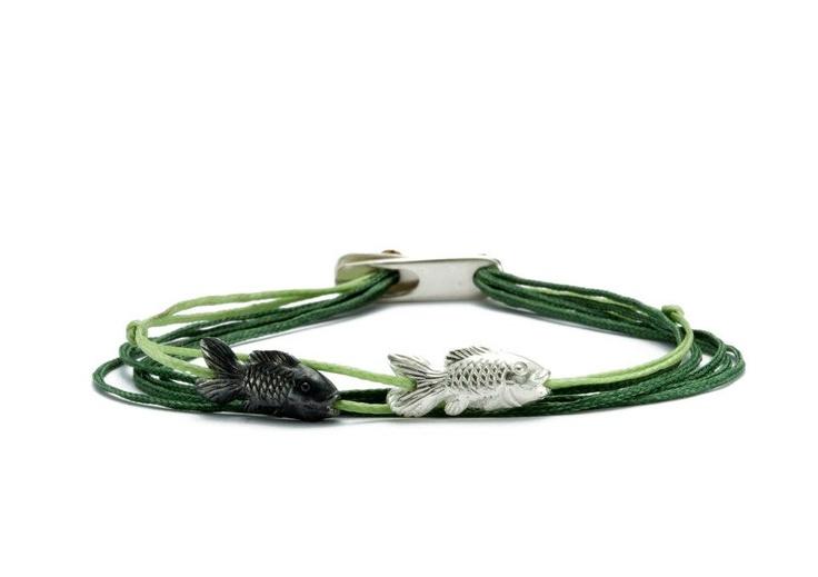 seven cords apriati bracelets, fish