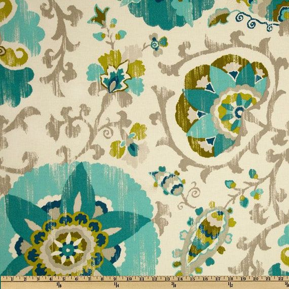 Oh my gosh!!  Love it!! Fabric by the Yard Blue Silsila Poolside P by MyFabricStudio, $19.00