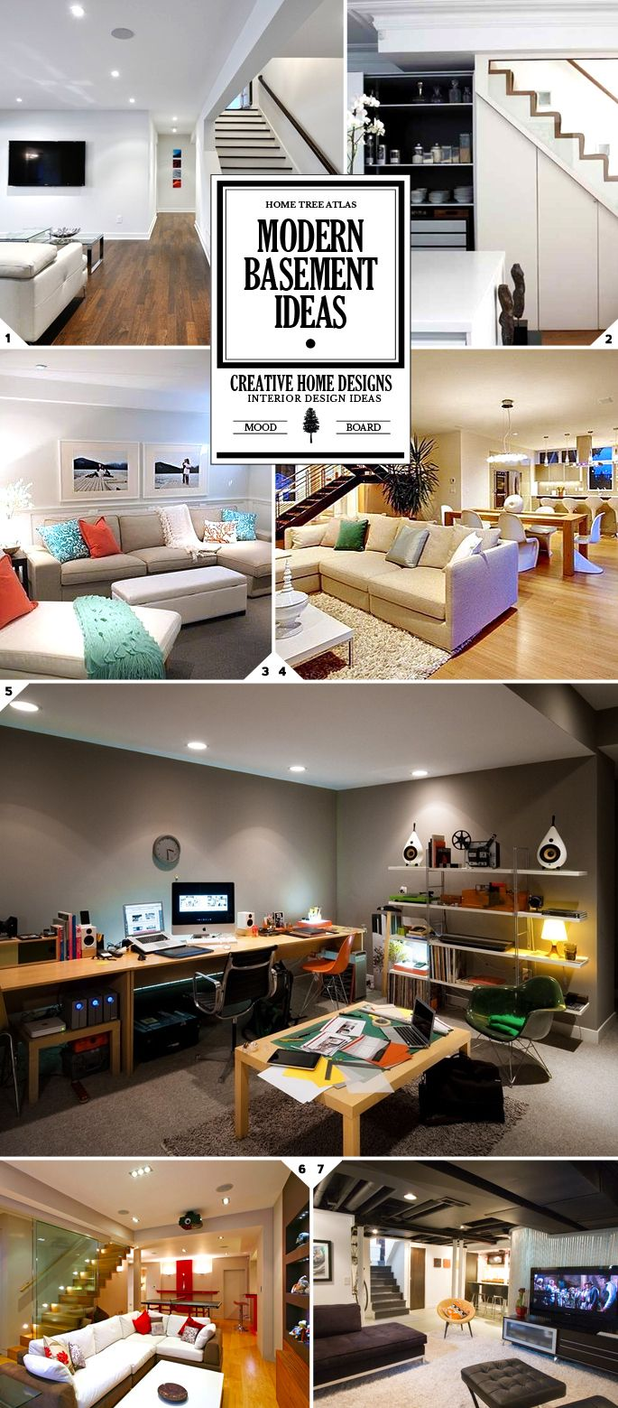 Style Guide: Modern Basement Ideas And Designs