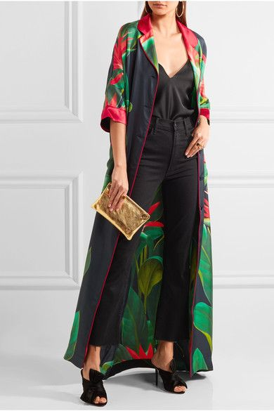F.R.S For Restless Sleepers | Eurinome belted printed silk-twill maxi dress | NET-A-PORTER.COM