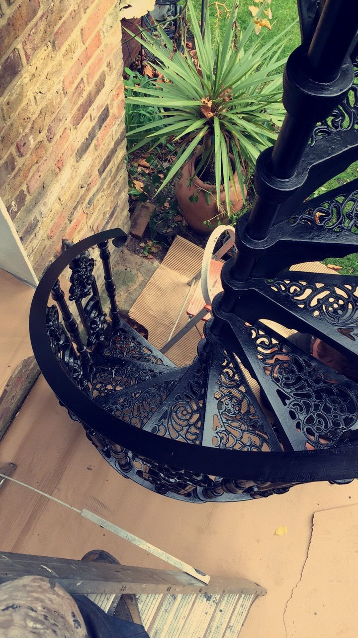 Cast iron charlcote spiral staircase - Elite Spiral Staircases