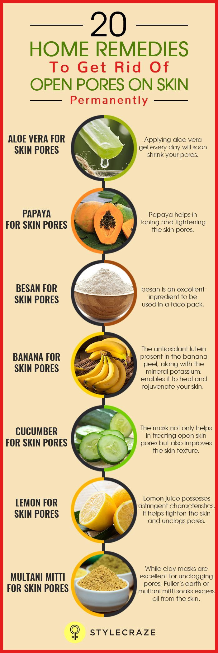 20 Home Remedies To Get Rid Of Open Pores On Skin …