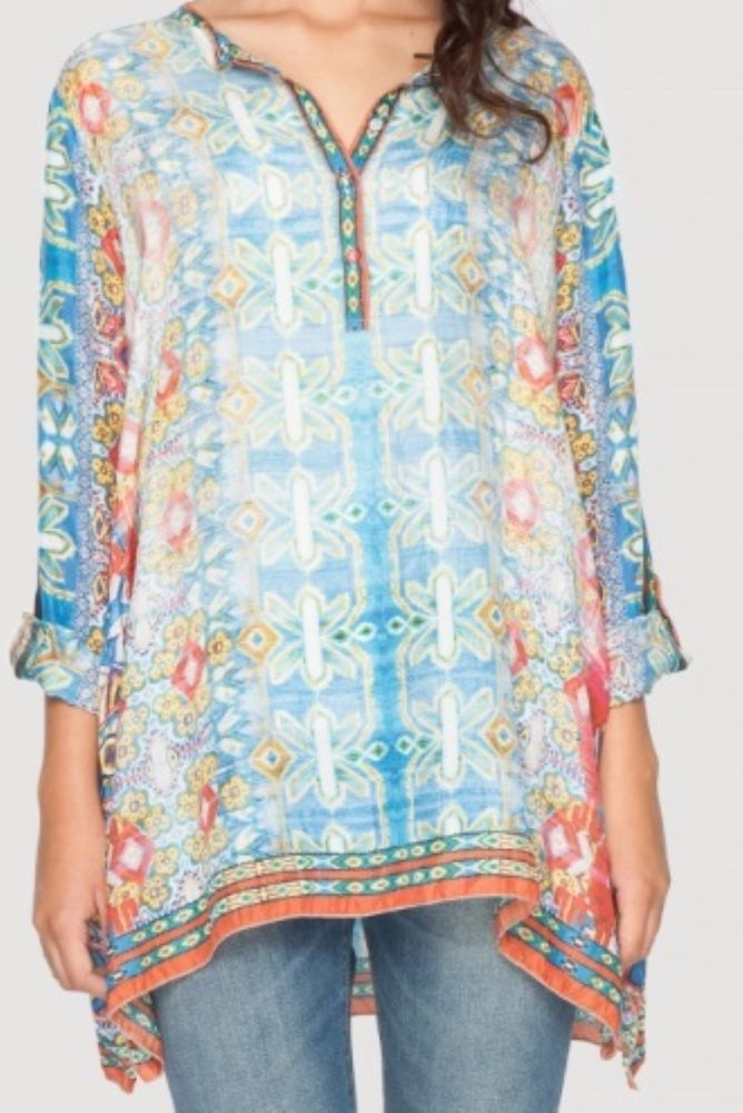 New Johnny Was Silk Tunic Size L #JohnnyWas #Tunic #Casual