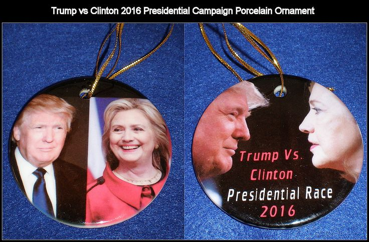 Trump vs Clinton Presidential Campaign 2016 Porcelain Ornament Collectors!! by PuttwhizKelly on Etsy