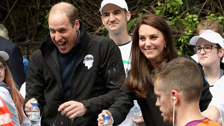 Kate Middleton, Prince William and Prince Harry Had The Best Time Cheering on Runners at the London Marathon