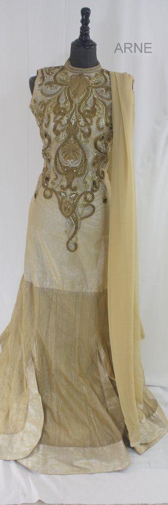 New Arrival! - Limited time only!Gold Designer Anarkali  http://www.arneus.com/dresses/6fv4dj3hl1wubs84gd2i559vhmjpru