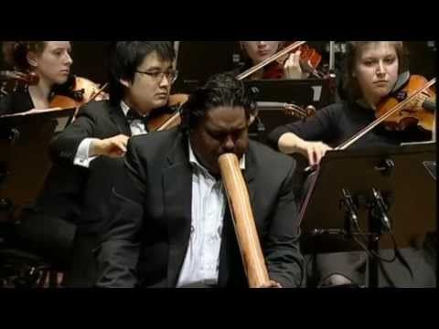 William Barton using a CrookedStixz and a Bruce Rogers Didgeridoo at the Sydney Opera House with the Australian Youth Orchestra. To see didgeridoos from thes...