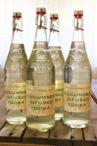 The Homestead Survival | How To Make Cucumber Infused Vodka Recipe | Homesteading - Alcoholic Beverage