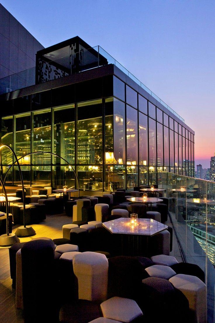 SO Sofitel Bangkok - Bangkok, Thailand - Bangkok's beautiful people converge at the 29th-floor Park Society bar.