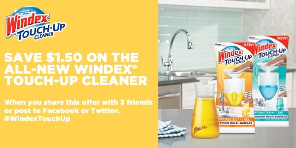 Check out this great offer on the latest innovation from Windex®. #WindexTouchUp