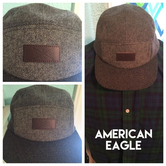 American Eagle 5 panel hat snapback leather This is a new American Eagle hat that's been gently worn one time. It's perfect for the Fall or Winter and goes with lots of outfits. American Eagle Outfitters Accessories Hats