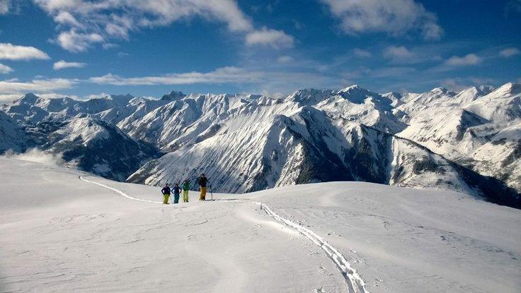 Ski touring above Berenger - January