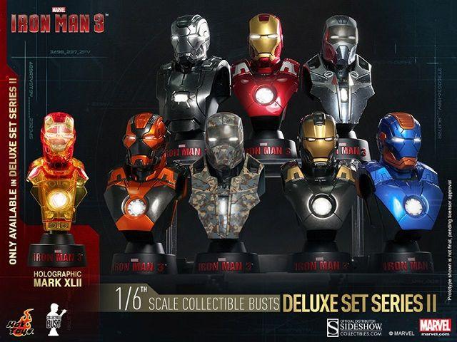 Pré-Encomenda:  Iron Man 3 Busts 1/6 11 cm Deluxe Set Series 2 (8)  Para mais informações clica no seguinte link: http://buff.ly/1iTL54U  #ToyArt #HotToys #Marvel #IronMan