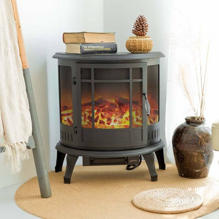 20 Stress Free Ways To Help You Improve Your Home Without Breaking The Bank Electric Wood Stove Fireplace Heater Free Standing Electric Fireplace