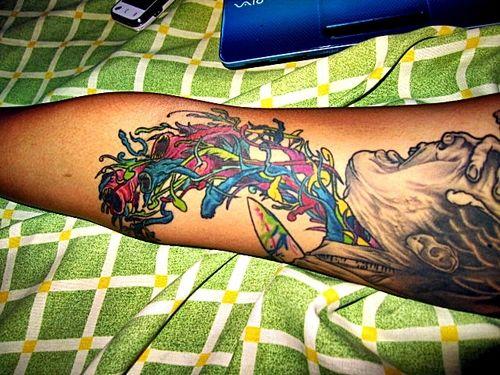 Alex pardee inspired tattoo