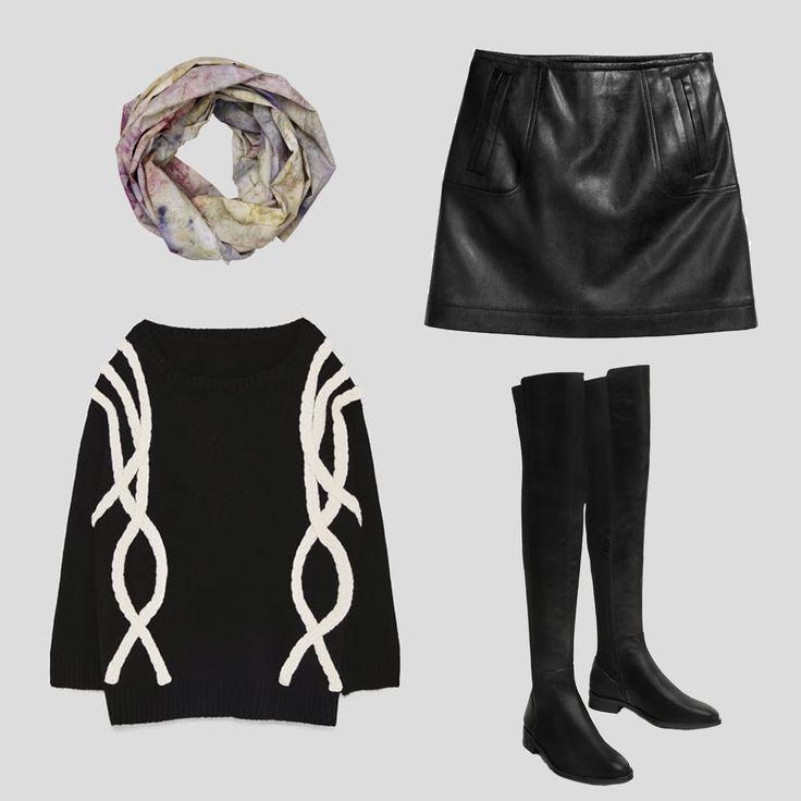 🌸¿Buscando la manera perfecta para abrigarte del frío con un look casual? Pañuelo @Cocoguilera, jersey y botas @zara y falda de @hym 🌸 #CocoGuilera #NATURESPIRITCOLECCTIONxCOCO
