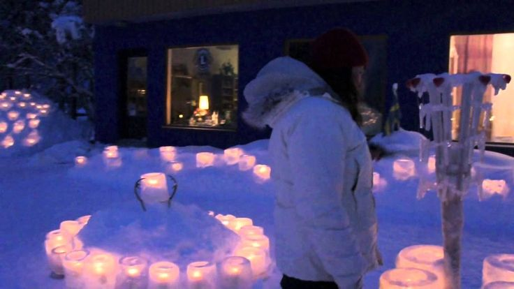 """A Guinness World of Records® in """"Largest Ice Lantern Display"""" was taking place in Vuollerim February 5th 2013, with 2 651 ice lanterns! See more on Facebook: https://www.facebook.com/IslyktornasB..."""