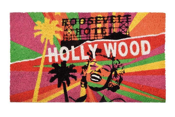 "Fußmatte Pop Art ""Hollywood"""