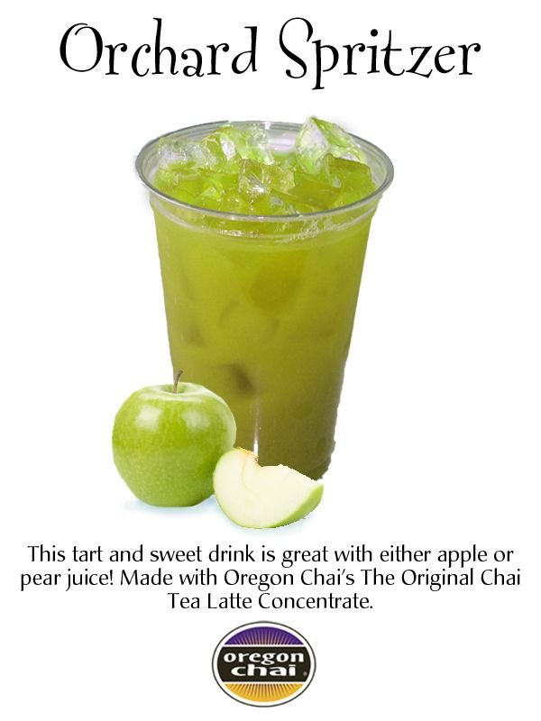 : This tart and sweet drink is great with either apple or peach juice ...