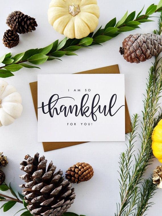 25 unique charitable donations ideas on pinterest auction i am so thankful for you fall card thanksgiving card love card hand lettered card blank charitable donation sciox Gallery