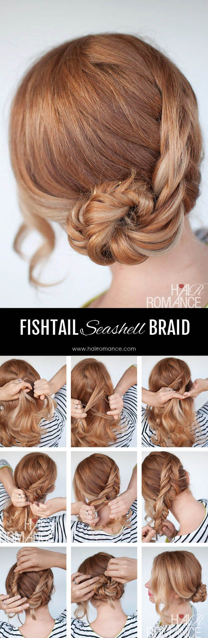 Seashell braid tutorial - Reverse fishtail braid tutorial
