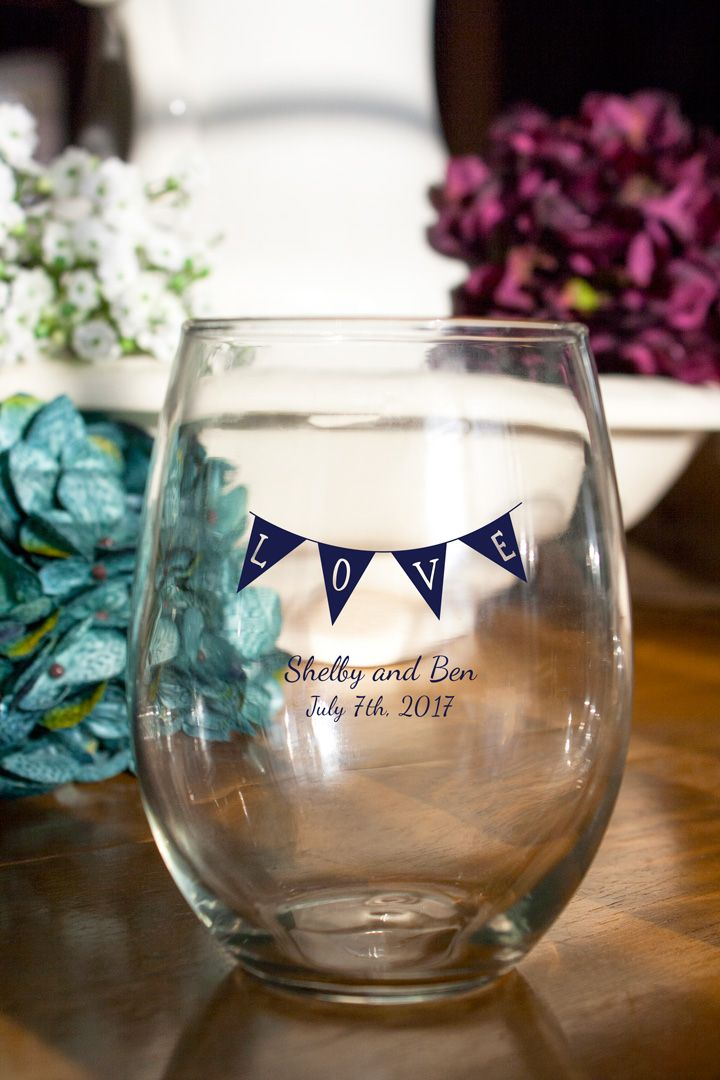 Personalized Wine Glasses Wedding Favors Personalized Stemless