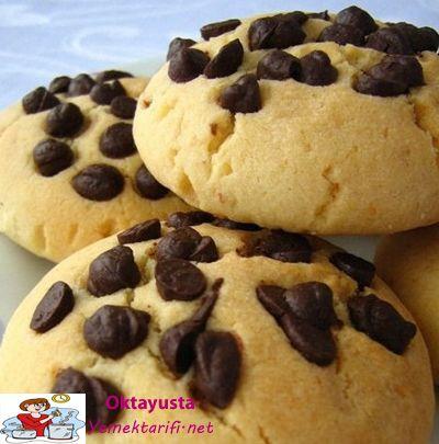 damla cikolatali kurabiye
