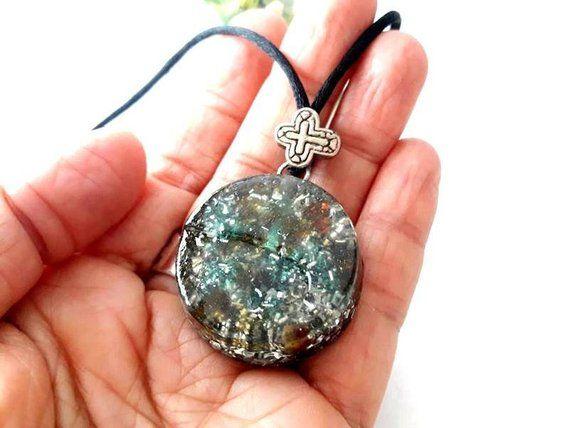 Green AdventurineRed Carnelian Orgone Pendant Necklace