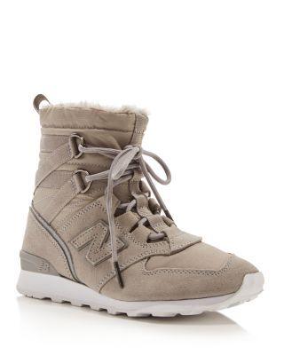 New Balance Faux Fur High Top Sneakers | Bloomingdale's