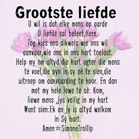 Grootste liefde... #Afrikaans  (SimoneTrollip)