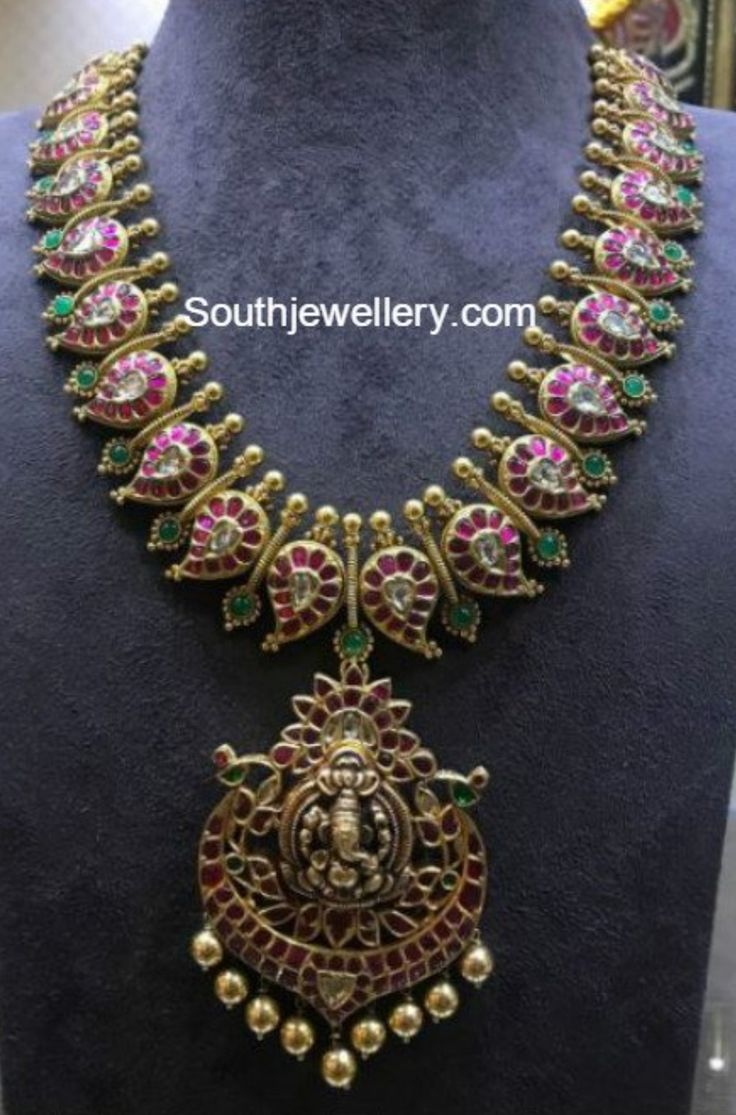 Suhasini in gundla haram jewellery designs - Find This Pin And More On Necklace By Amrutharamesh98