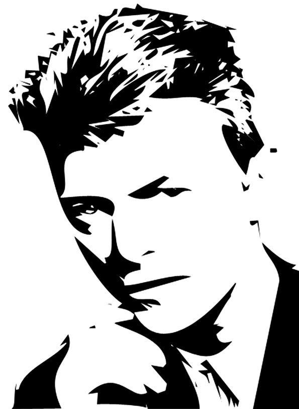 Pin By Asgad K On Gel David Bowie Art Silhouette Art