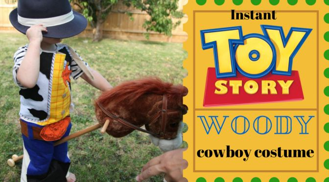 DIY Kids Fancy Dress - Make your own instant costume of cowboy Woody from Pixar/Disney's Toy Story movie! All you need is a CleverPatch cotton apron, some felt, glue and inspirations.