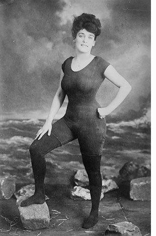 Annette Kellermann, vaudeville performer, champion swimmer, and pioneer of the women's bathing suit.