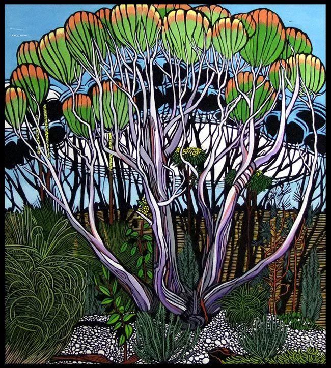 Hardys Scrub Gum by Gail Kellett, 70cm w x 70cm h