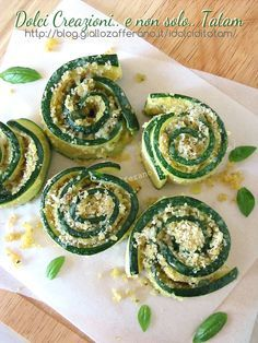 Rosette di zucchine | ricetta leggera vegetariana