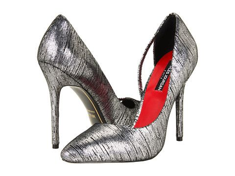 Charles Jourdan Metallic Pointed-Toe Pumps