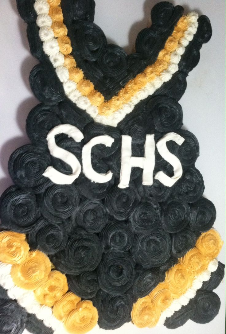 Cheerleading uniform cupcakes