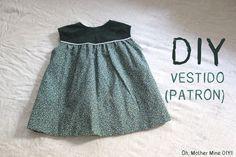 DIY Costura: como hacer vestido de niña. Patrones gratis incluidos, talla 6 meses - 6 años. Despliega la descripción para obtener toda la información!!! Pos...