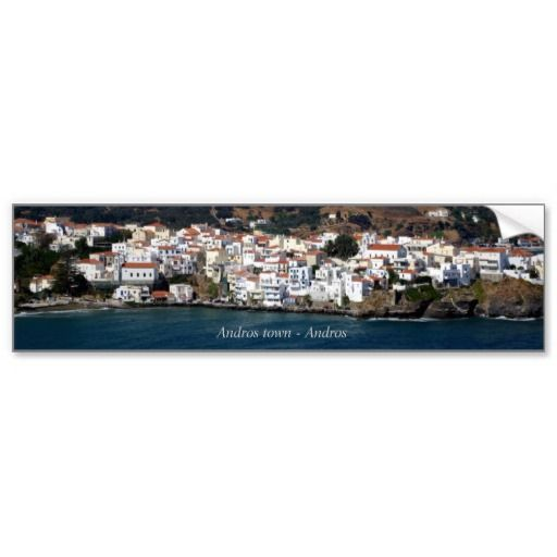Andros town - Andros Bumper Stickers