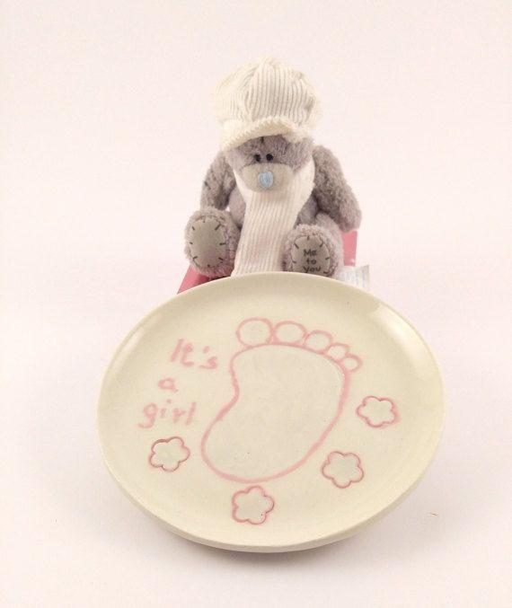 Gift for Newborn  Baby Girl Gift  Infant Girl  by KeramosPottery