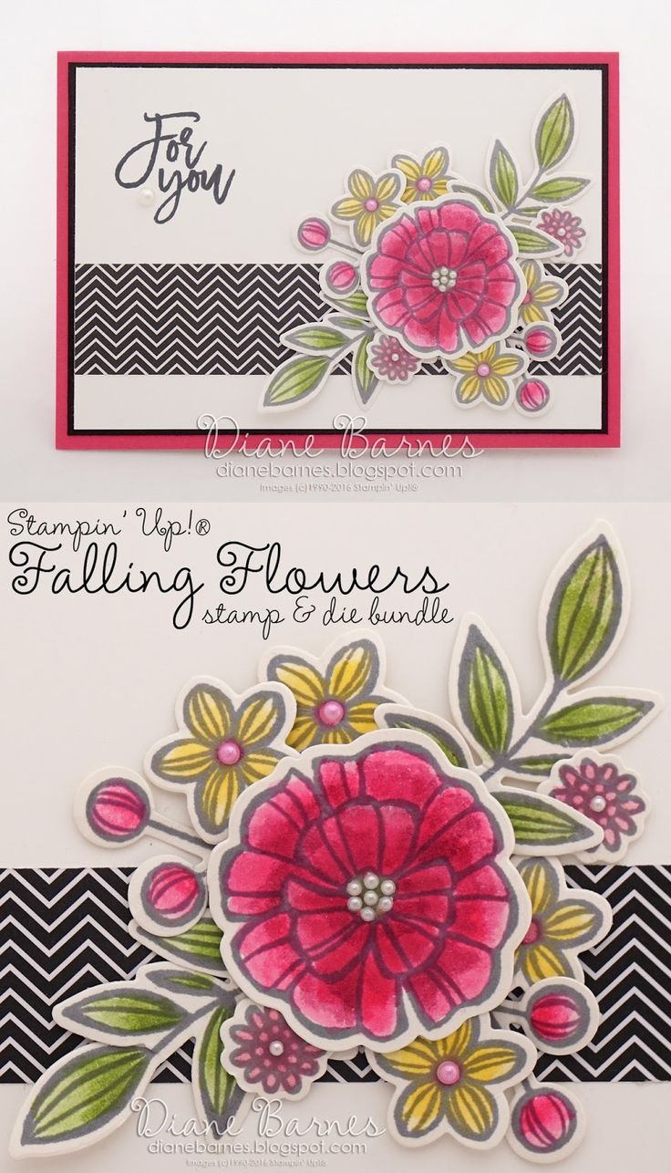 Flower Card Making Ideas Part - 32: For You Card Using Stampin Up Falling Flowers / May Flowers Bundle,  Thoughtfulu2026