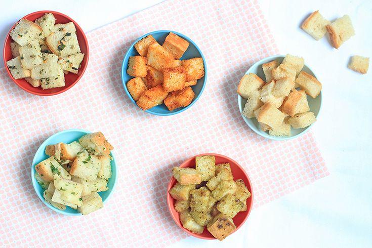 Zelf maken: 5x croutons - Chickslovefood.com