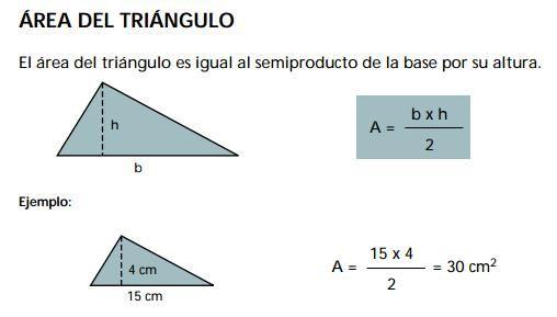 ärea triángulo