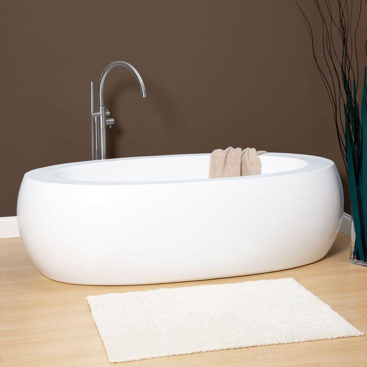 75 Quot Perla Acrylic Freestanding Tub Signature Hardware